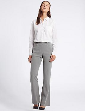 Pantalon bootleg coupe slim, GRIS, catlanding