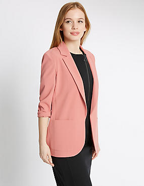 PETITE Patch Pocket Jacket, BURNT SIENNA, catlanding