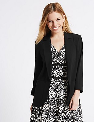 PETITE Patch Pocket Jacket, BLACK, catlanding