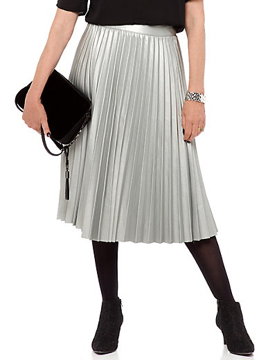 Faux Leather Pleated A-Line Skirt | M&S