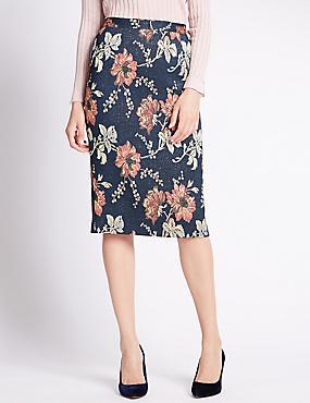 Floral A-Line Skirt, MULTI, catlanding