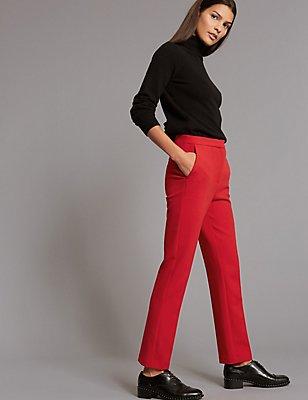 Pantalon coupe droite, ROUGE, catlanding