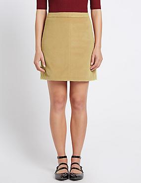 A-Line Mini Skirt, NUTMEG, catlanding