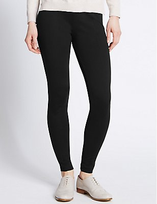 PLUS Skinny Leg Treggings , BLACK, catlanding