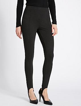 Pantalon Ponte coupe skinny, CHARBON ASSORTI, catlanding