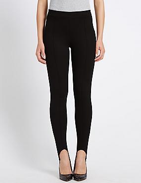 Pantalon Ponte coupe skinny, NOIR, catlanding