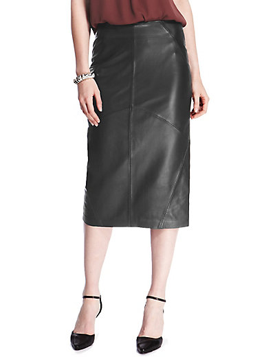 Leather Pencil Skirt | M&S