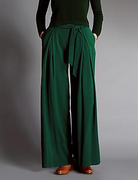 Pantalon large avec ceinture , VERT, catlanding