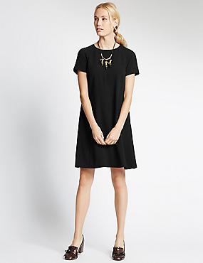 Shift Dress, BLACK, catlanding
