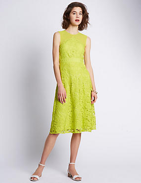 Speziale Floral Lace Fit & Flare Dress