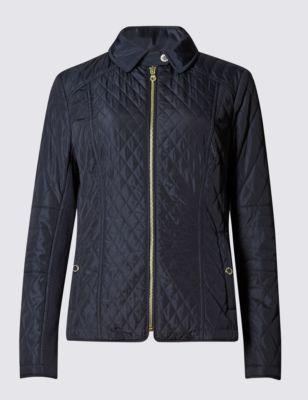 Стёганая ромбом куртка Stormwear™