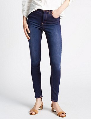 Roma Rise Perfect Sculpt Washed Look Jeggings, MED BLUE DENIM, catlanding