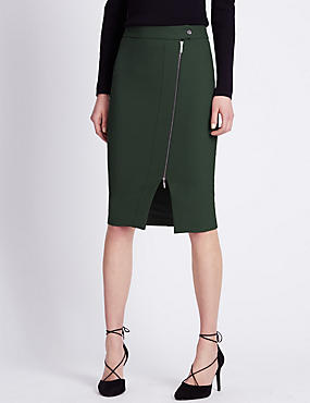 Speziale Zip Front Pencil Skirt