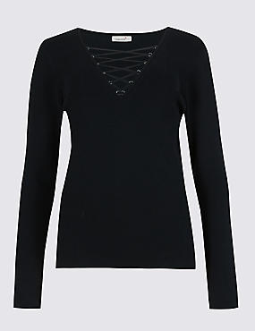 Speziale Lace Neck Jumper