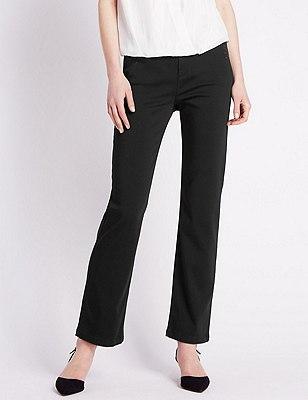 Embellished Roma Rise Straight Leg Jeans, BLACK, catlanding
