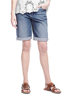 Dark Indigo Boyfriend Denim Shorts