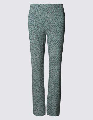 Широкие брюки с принтом Bloom