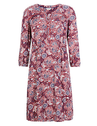 Empire Line Floral Dress Clothing