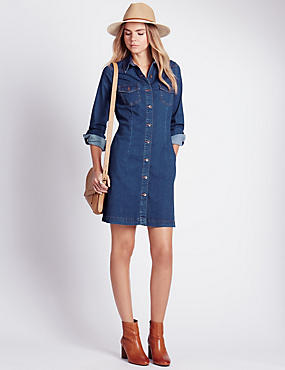 Fit & Flare Denim Dress