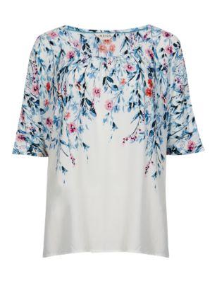 Свободная футболка с принтом Indigo Collection T669620