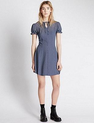 The Elsie Dress, NAVY MIX, catlanding