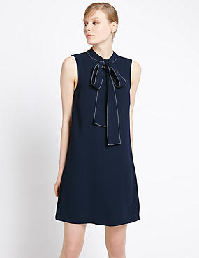 Bow Front Shift Dress