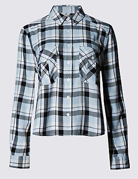 Twin Pockets Checked Shirt