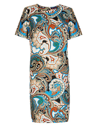 Twiggy for M&S Collection Paisley Shift Dress Clothing