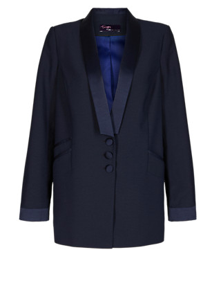 Twiggy for M&S Collection Shawl Collar Tuxedo Jacket Clothing