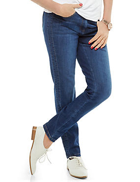 Washed Look Denim Jeggings