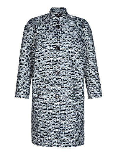 Blue Mix Best of British Cocoon Coat Clothing