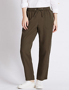 PETITE Cropped Track Pant