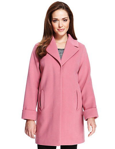 Petite Notch Lapel Oversized Duster Coat | M&S