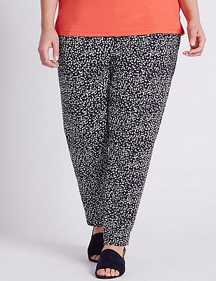 PLUS Spotted Tapered Leg Trousers, NAVY MIX, catlanding