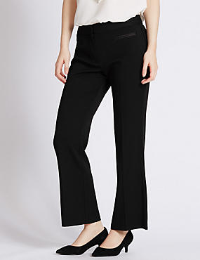 PETITE Front Pocket Bootleg Trousers