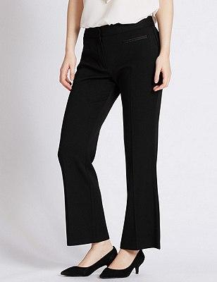 PETITE Front Pocket Bootleg Trousers, BLACK, catlanding