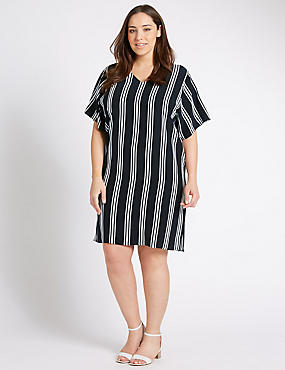 PLUS Striped Tunic Dress