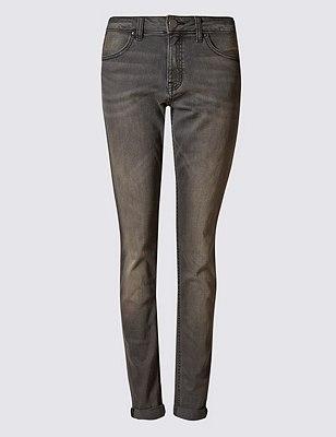 PETITE Relaxed Skinny Jeans, GREY, catlanding