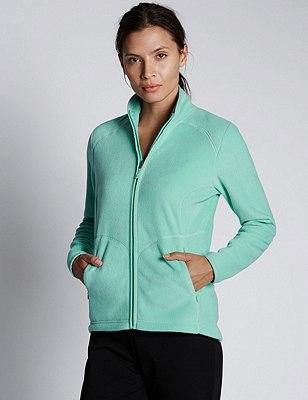 PETITE Fleece Jacket, BRIGHT AQUA, catlanding