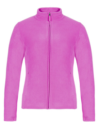 PLUS Funnel Neck Zip Through Fleece Jacket Clothing