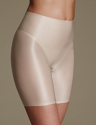 Light Control Sheer Shaping Thigh Slimmer, ALMOND, catlanding