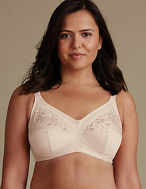 Post Surgery Total Support Non-Wired Balcony Bra B-G, NUDE, catlanding