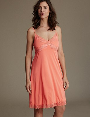 Slinky Isabella Lace Full Slip, ORANGE FIZZ, catlanding