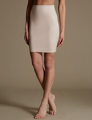 Firm Control Body Solutions Pencil Skirt Waist Slip , ALMOND, catlanding