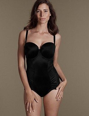 Firm Control Magicwear™ Strapless Body B-E, BLACK, catlanding