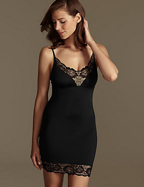 Firm Control Lace Trim Full Slip