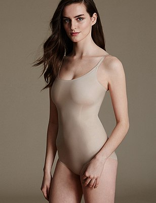 Light Control Sheer Shaping Body with Secret Slimming™, ALMOND, catlanding