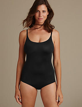 Light Control Sheer Shaping Body with Secret Slimming™, BLACK, catlanding