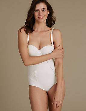 Firm Control Waist Effect Shaping Body, IVORY, catlanding
