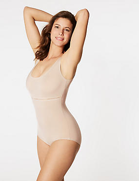 Light Control Sheer Shaping Body, ALMOND, catlanding
